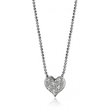 "Alex Woo ""Little Vegas"" Heart Pendant Necklace, 16"" ---Free shipping"