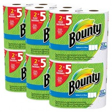 Bounty Select-a-Size Paper Towels, White, 12 Huge Rolls ( Chose your size)