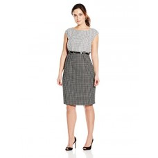 Calvin Klein Women's Plus-Size Belted Sheath Dress
