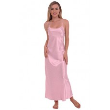 Del Rossa Women's Classic Satin Camisole Full Length Nightgown