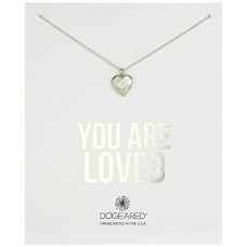 Dogeared You Are Loved Faceted Heart Sterling Silver Chain Necklace  FREE SHIPPING