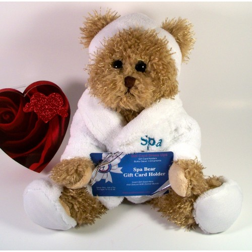 Gift Card Holders Adorable Stuffed Spa Bears Gift Card Accessories