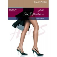 Hanes Womens Set of 3 Silk Reflections Control Top Sheer Toe Pantyhose