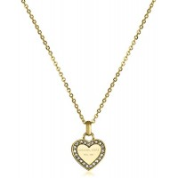 Michael Kors Tone Logo Heart Pendant Necklace   FREE SHIPPING