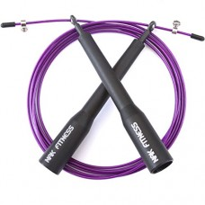 NAK Fitness Premium Long Handles Speed Cable Jump Rope with super-fast high-grade metal bearings for serious Cross Fit training, cardio exercise, Boxing, MMA and endurance training with speed rope. Master Double Unders and Triple Unders.  Free Shipping