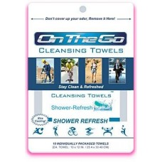 On The Go Towels Shower Refresh 10