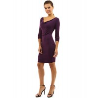 PattyBoutik Women's Cowl Neck Long Sleeve Day to Night Dress