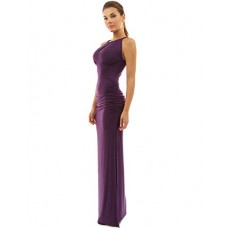 PattyBoutik Women's Keyhole Ruched Sides Slit Maxi Dress---Free Shipping (Easy free Returns)