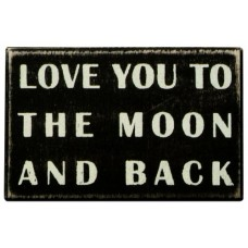 Primitives By Kathy Box Sign, To The Moon And Back---Free shipping