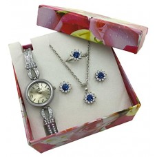 Silver Watch & Jewelry Birthday Gift for Women Wife Girlfriend Sister Mom