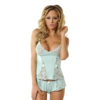 Velvet Kitten Deep Desires Sexy Cami and Boyshort Panty Lingerie Set 3210