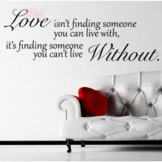 Wall Sticker Decal Mural Self Adhesive Paper Art Deco (Love Without Quote Sticker)---Free shipping