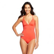 Women's Blouson One Piece Swimsuit Coral M - Cleanwater
